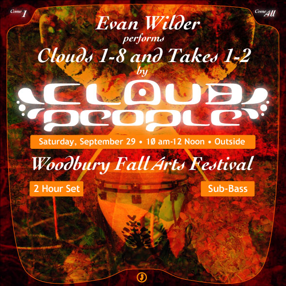 Evan Wilder Performs Cloud People At Fall Arts Festival, Woodbury NJ